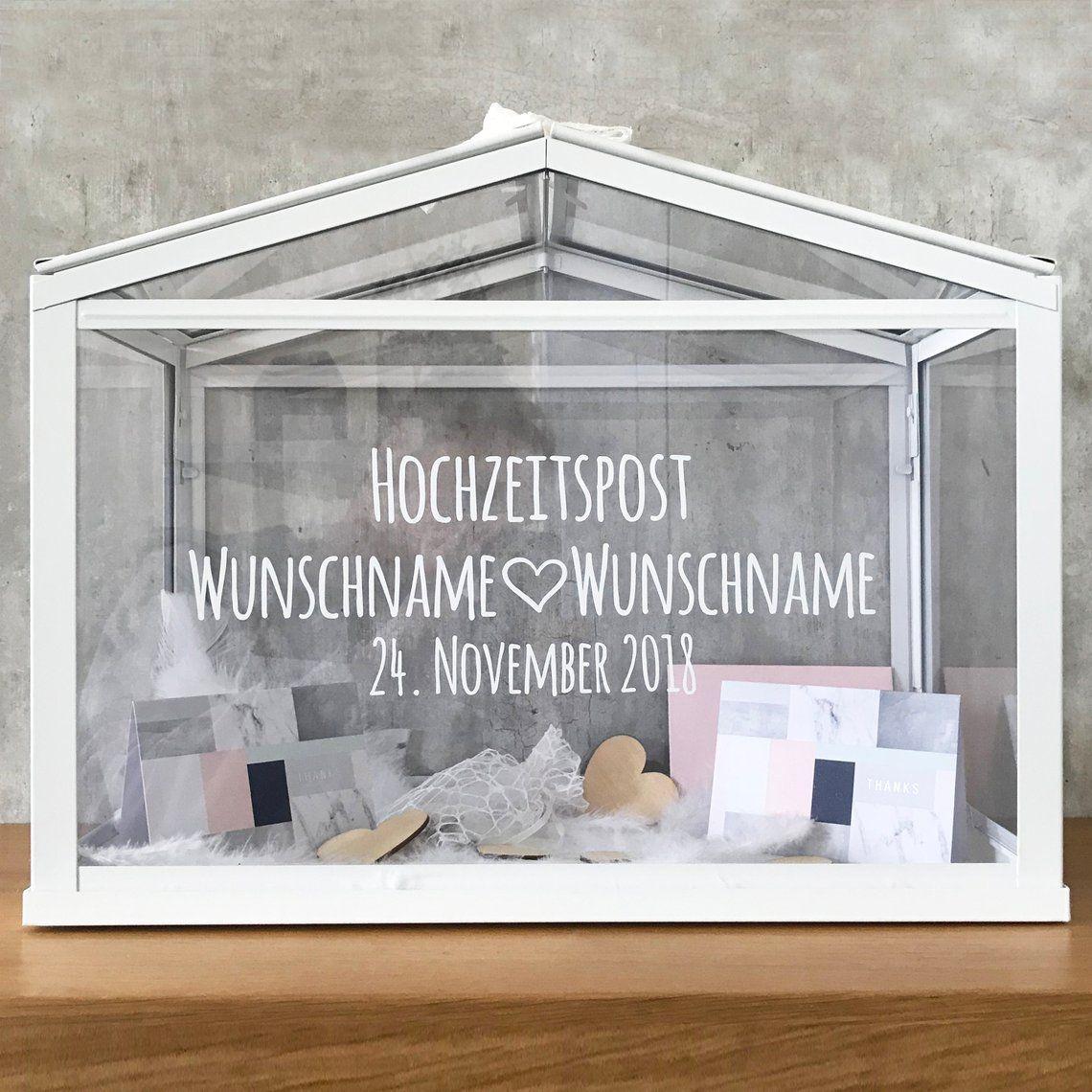 Hochzeitskartenbox personalisiert Namen Datum Hochzeitspost Kartenbox Hochzeitskarte Geschenkkarten Glückwunschkarten Geldgeschenke Hochzeit #20thanniversarywedding