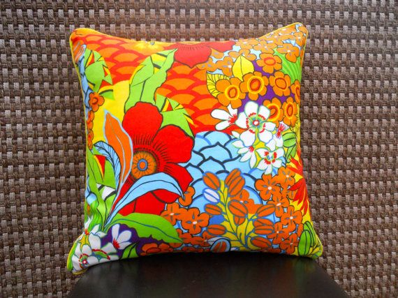 Decorative Handmade Pillow Fun Bright by SewFabulousSenior on Etsy, $20.00