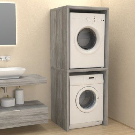Colonna coprilavatrice / asciugatrice #bathroomlaundry