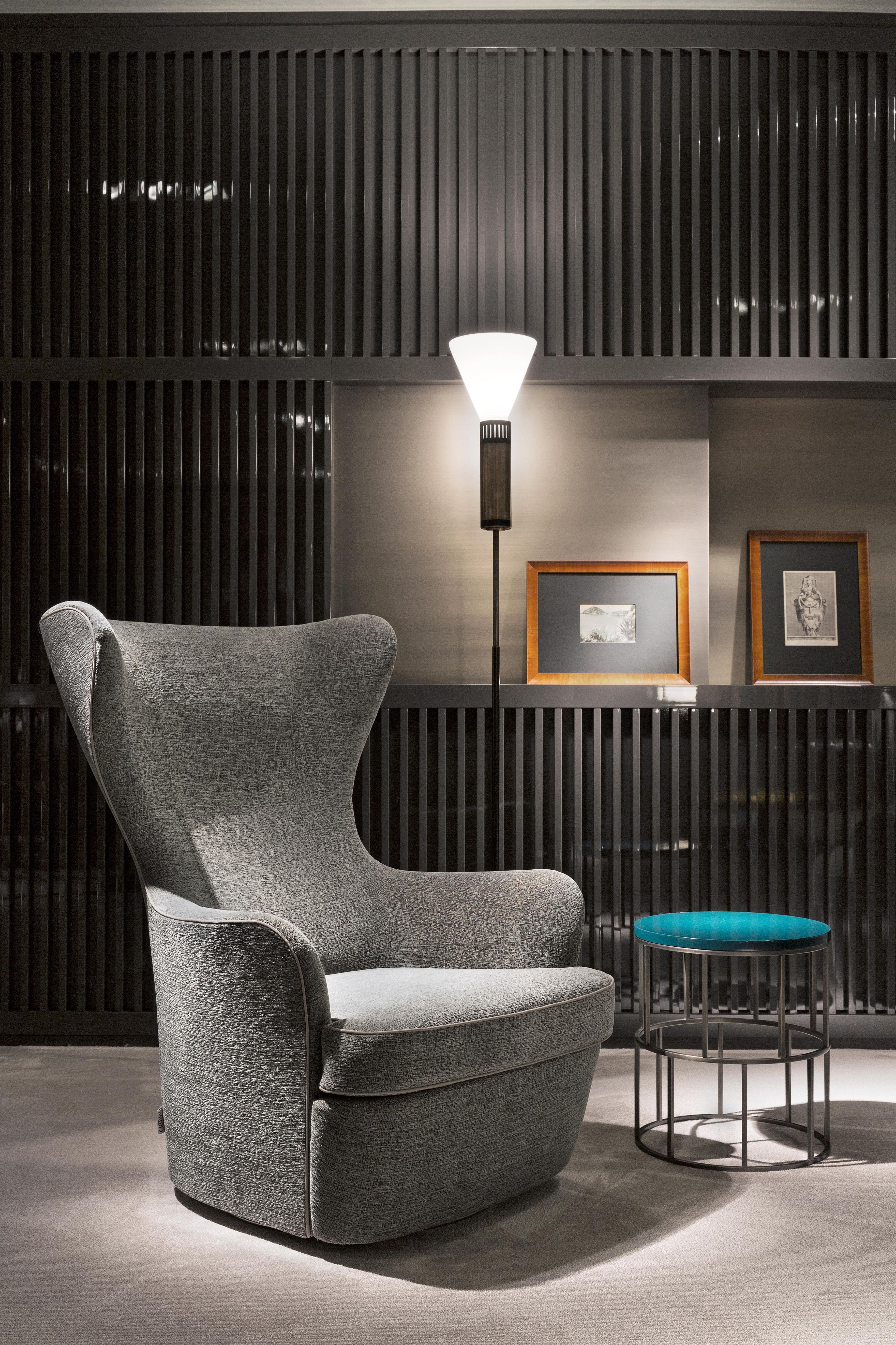 Salone 2014   Exclusive preview FLEXFORM MOOD Collection. The new bergère armchair: ELISABETH, with a large padded shell. Designed by Roberto Lazzeroni. Find out more on http://bit.ly/1hA0jvA