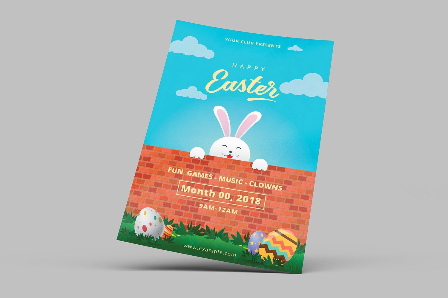 Printable Easter Party Flyer Easter Egg Hunt Invitation Card Template Photoshop And Ms Word Templat Invitation Flyer Easter Invitations Easter Party Invite