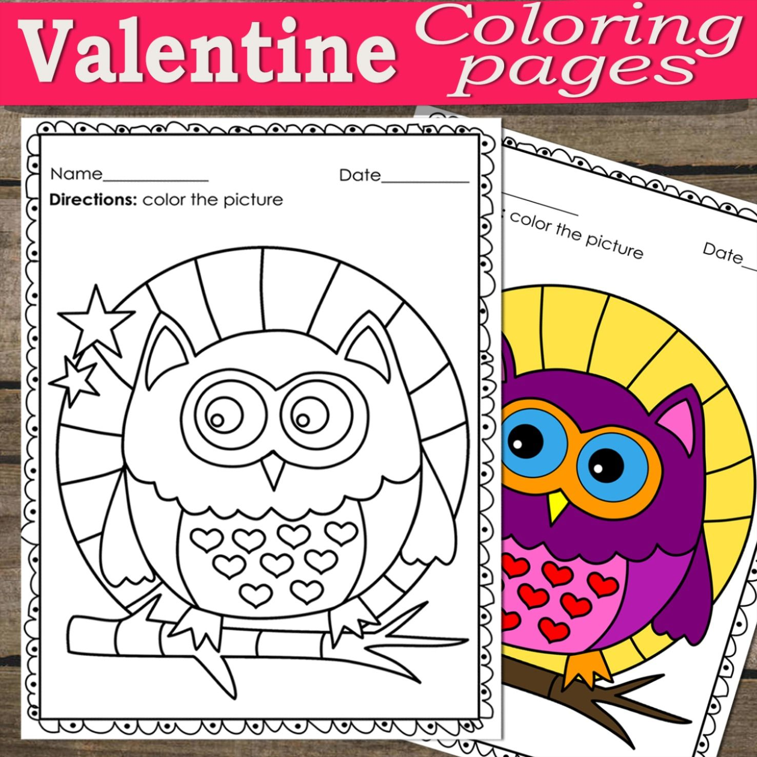 Valentine Coloring Pages In