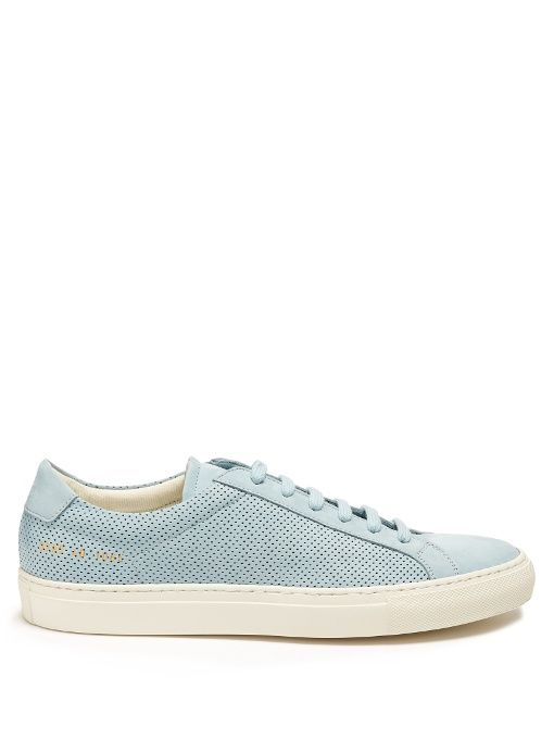 6f3a14bc5355e COMMON PROJECTS Achilles Low-Top Perforated-Leather Trainers.   commonprojects  shoes  sneakers