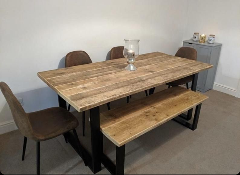 15+ Small wood dining table with bench Best