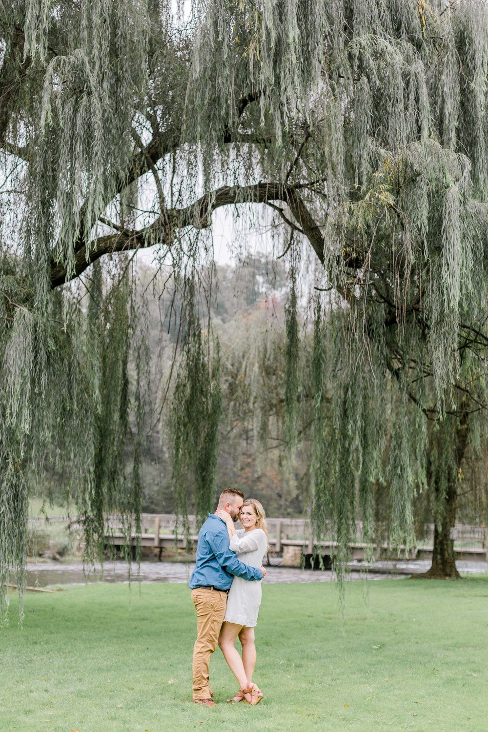 Li L Le Hi Trout Nursery Fish Hatchery Fall Engagement Session Lehigh Valley Wedding Photographer Lytle Photo Co Epic Weeping Willow Tree
