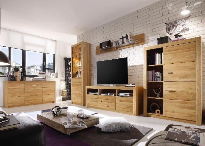 Wohnwand Sideboard Malpensa Asteiche Massiv Wohnwand Modern Schrankwand Wohnzimmer Modern