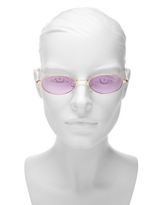 Quay Women's Showdown Slim Oval Sunglasses, 56.5mm - Gold