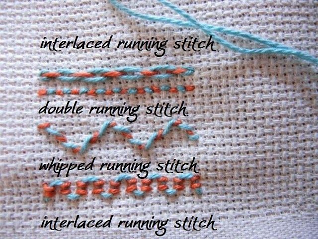 Every Saturday new embroidery stitches! I'll use a neutral ...