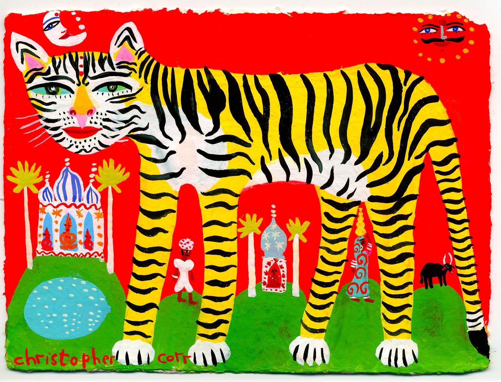 Tiger cat | Art, Art for kids, Gouache painting