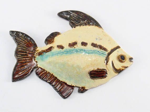 Ceramic fish Fish on the wall hanging fish Ceramic decor   Ceramics ...