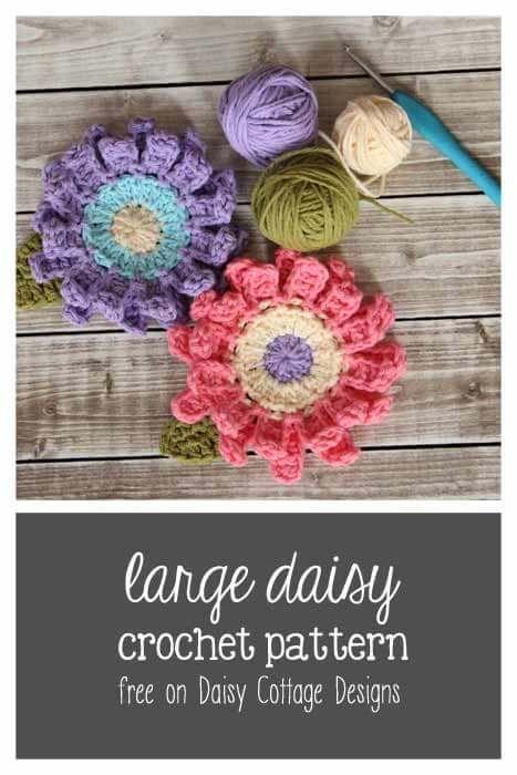 Large Flower Crochet Pattern Cottage Design Flower Crochet And