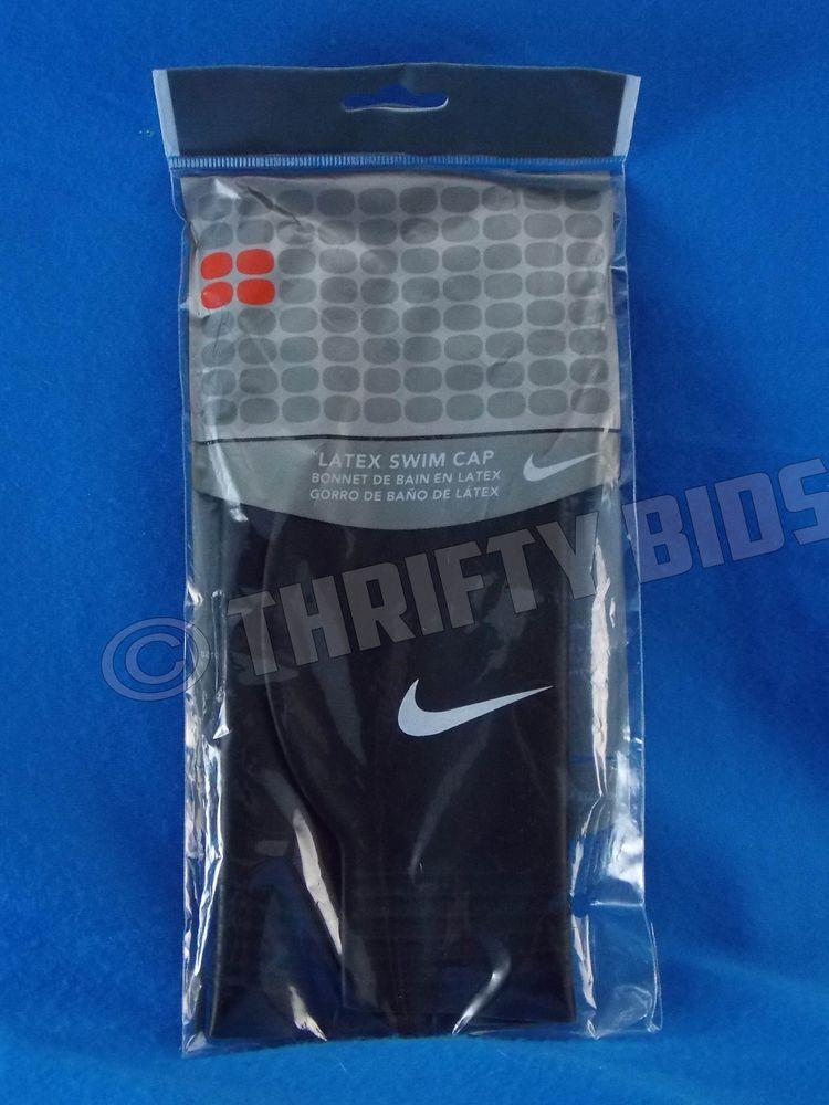 4e36e5bca11 Nike Performance Latex Swim Cap Black 93050 Adult One Size Fits All New # Nike