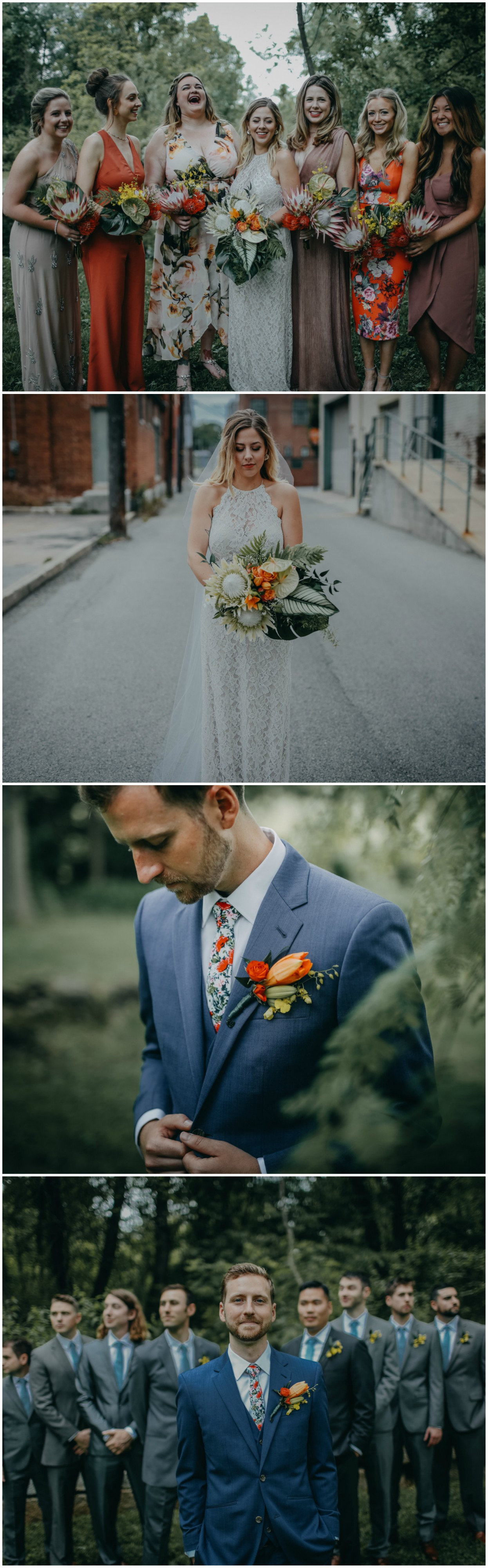 Boho spring wedding at willis house york pa gray groomsmen boho spring wedding at willis house york pa ombrellifo Choice Image