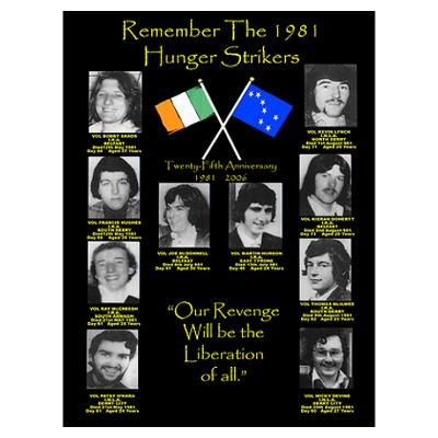 1981 Hunger Strike Martyrs Poster  Remember the Ten