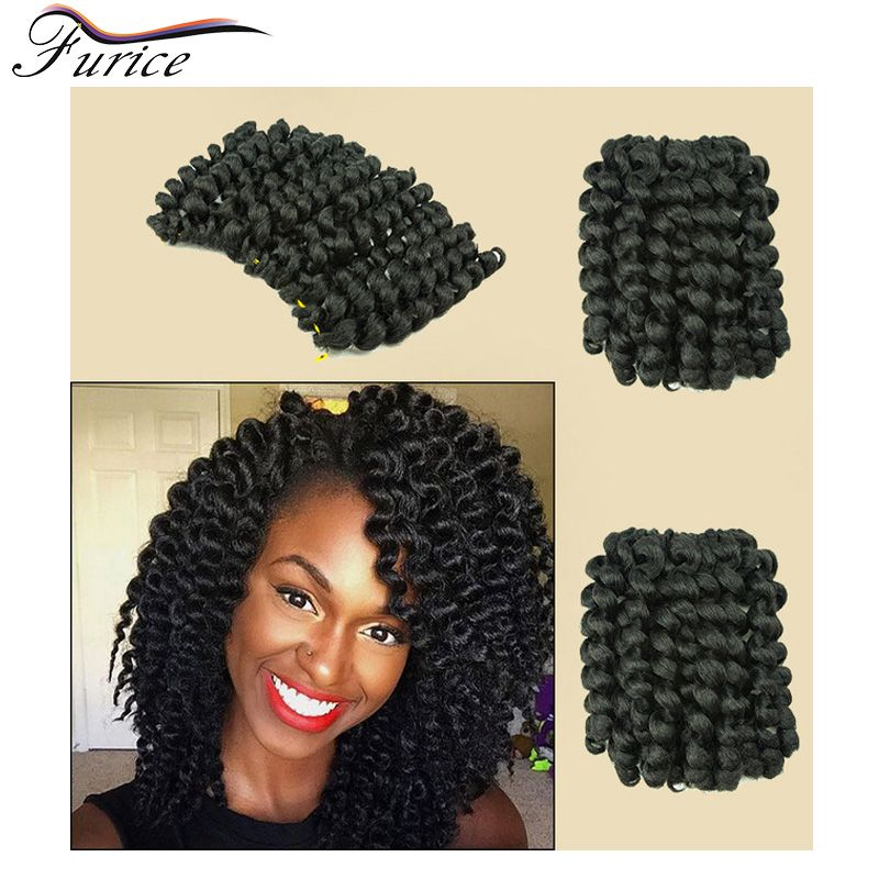 Aliexpress buy hot sell wand curl 8inch crochet braid hair aliexpress buy hot sell wand curl 8inch crochet braid hair synthetic crochet braids model model glance freetress braid 2x jumpy wand curl braid from pmusecretfo Images