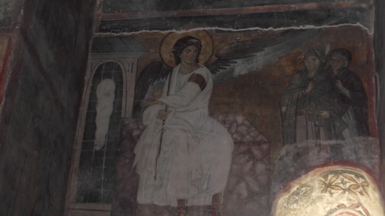 Célèbre frèsque de l'Ange Blanc au monastère de Milesheva