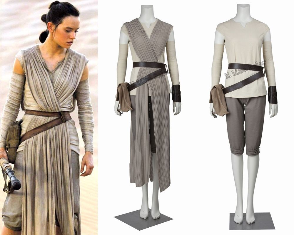 72482ed85c45 HOT 2016 STAR WARS Costume Adult The Force Awakens Rey Cosplay Carnival  Party Costume Star wars Rey Cosplay Costume…