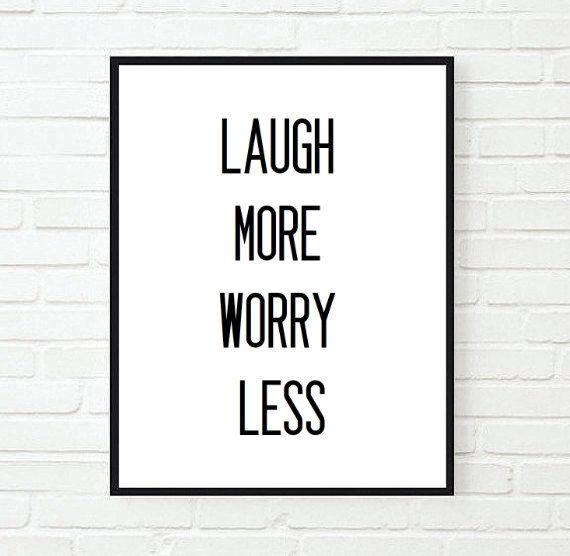 Marvelous Laugh More Worry Less Inspirational Tumblr Quote Typographic Download Free Architecture Designs Scobabritishbridgeorg