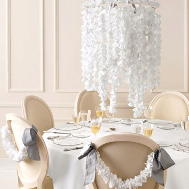 Pretty My Future Wedding Ideas Pinterest Weddings - Beautiful diy white flowers chandelier