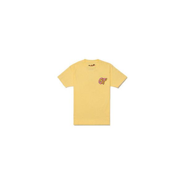 65ff1f0f5e33 Odd Future Yellow Pink OF Donut T-Shirt ❤ liked on Polyvore featuring tops