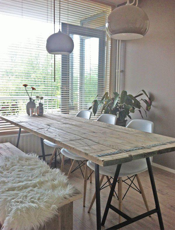 Preview diy tafel tr pied tables en bois et bureau for Repas familial ikea