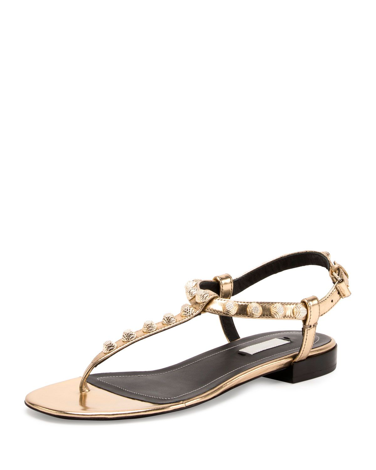 6525ab78903 Studded Leather T-Strap Sandal