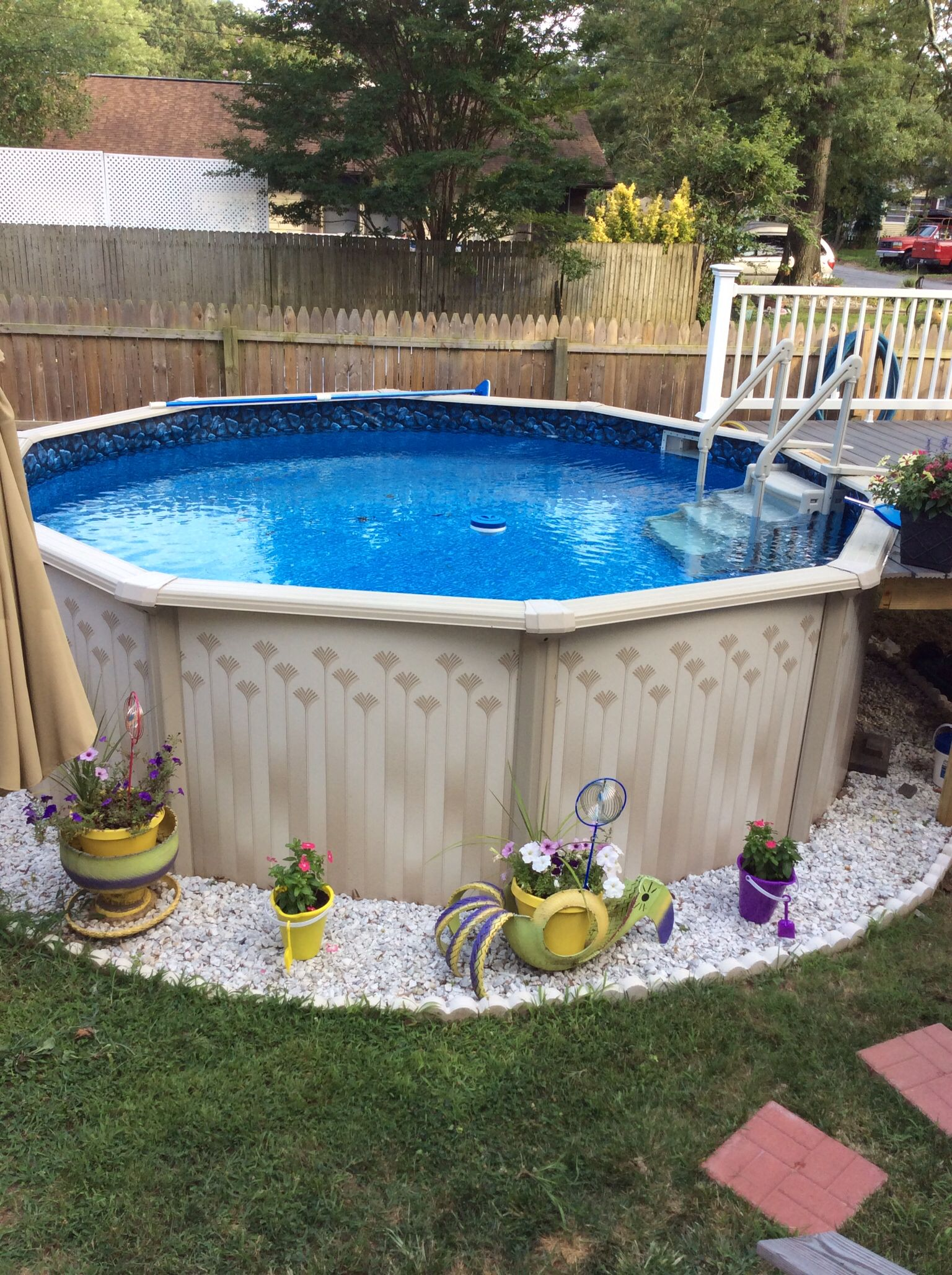 Backyard Above Ground Pool Landscaping Pool Landscaping Swimming Pools Backyard