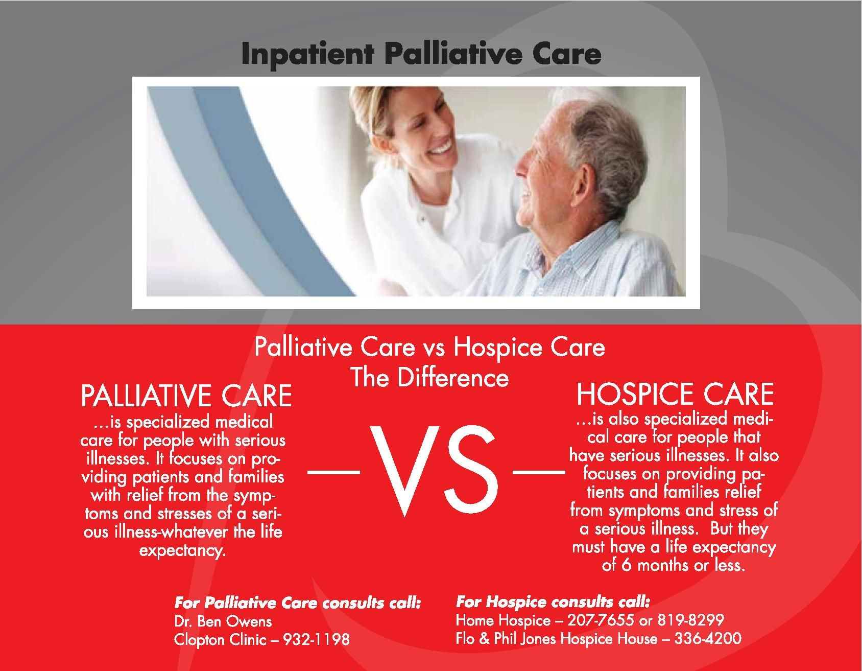 Palliative Care vs. Hospice Care Health Information