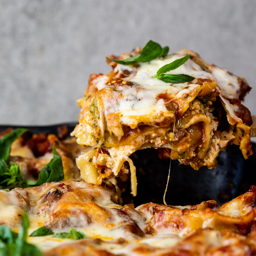 Vegetarische Lasagne mit Basilikum-Pesto und Ricotta – Einfach köstlich  – Veg head