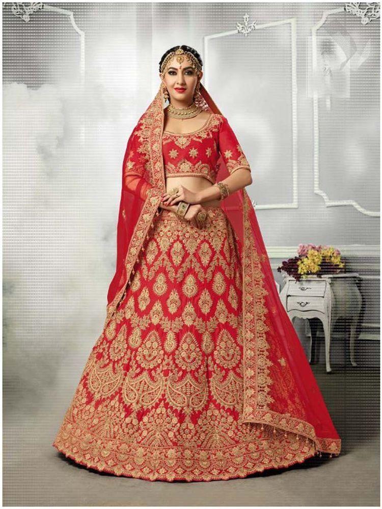 Women's Clothing Collection Here Designer Indian Bridal Lehenga Choli Wedding Pakistani Womens Lehnga Dupatta Set Clothes, Shoes & Accessories