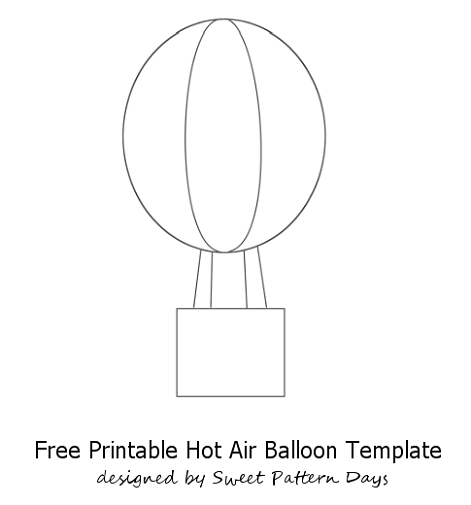 Hot Air Balloon Craft Template La In My Classroom