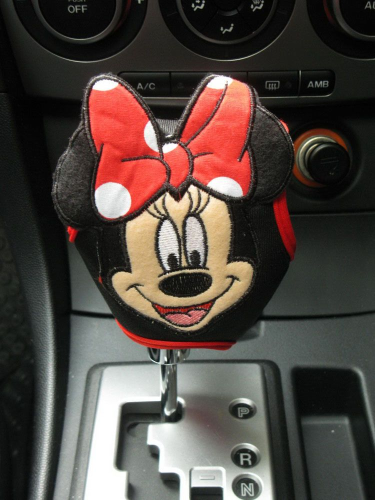 Minnie Mouse Car Accessory #Red : Automatic Shift Knob Gear Stick ...