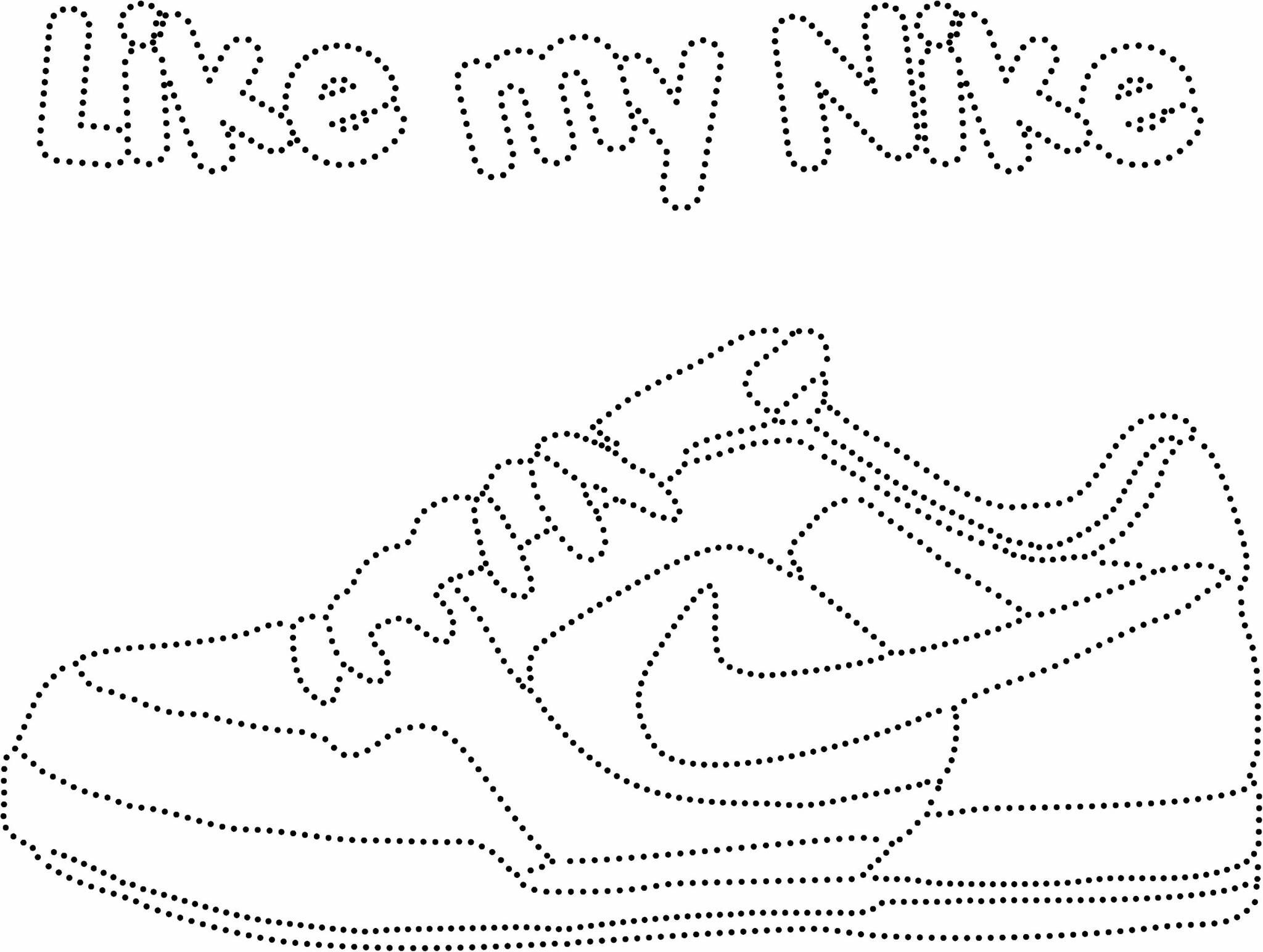 Nike Schoen Borduren Op Papier Borduren Op Kaarten Borduurpatronen