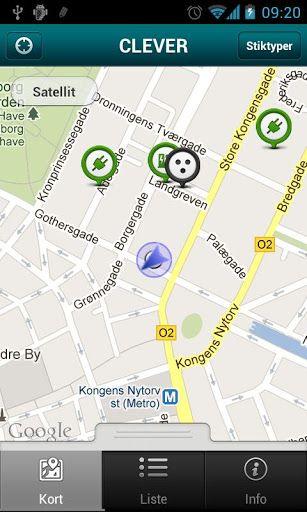 Med 'find opladnings'-applikationen på din SmartPhone, gør CLEVER det muligt for dig at søge efter offentligt tilgængelige ladestandere og stikkontakter, hvad enten du har brug for strøm eller planlægger en længere tur i din elbil.<br> <br>Find opladnings-applikationen benytter telefonens indbyggede GPS.<p>keywords: Opladning<br>Elbil, Ladestander, Charge, Infrastruktur, opladningspunkter, Plugin, Ev, Strøm, Ladning, Stik, Ladestik, Stander, Quick, Fast  http://Mobogenie.com