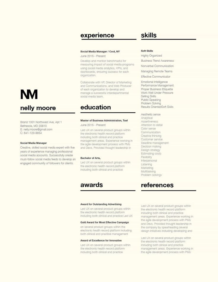 Graphic designer resume typography graphic designer