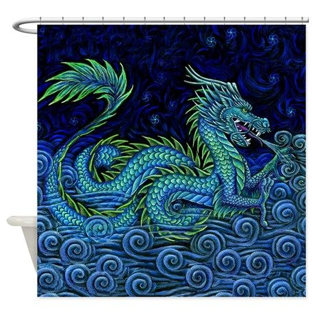 Chinese Dragon Shower Curtain With Images Chinese Dragon