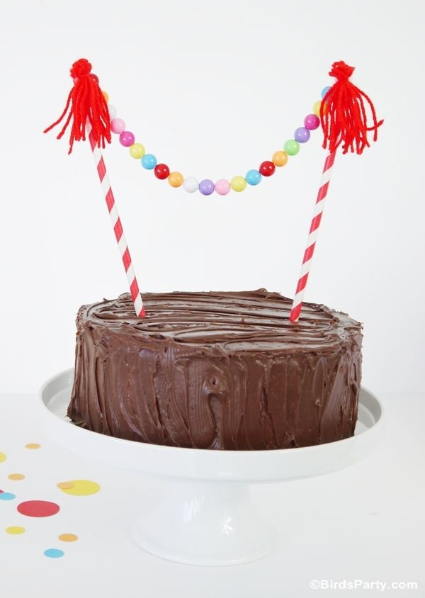3 Easy DIY Cake Bunting Ideas to Make   Ideas party