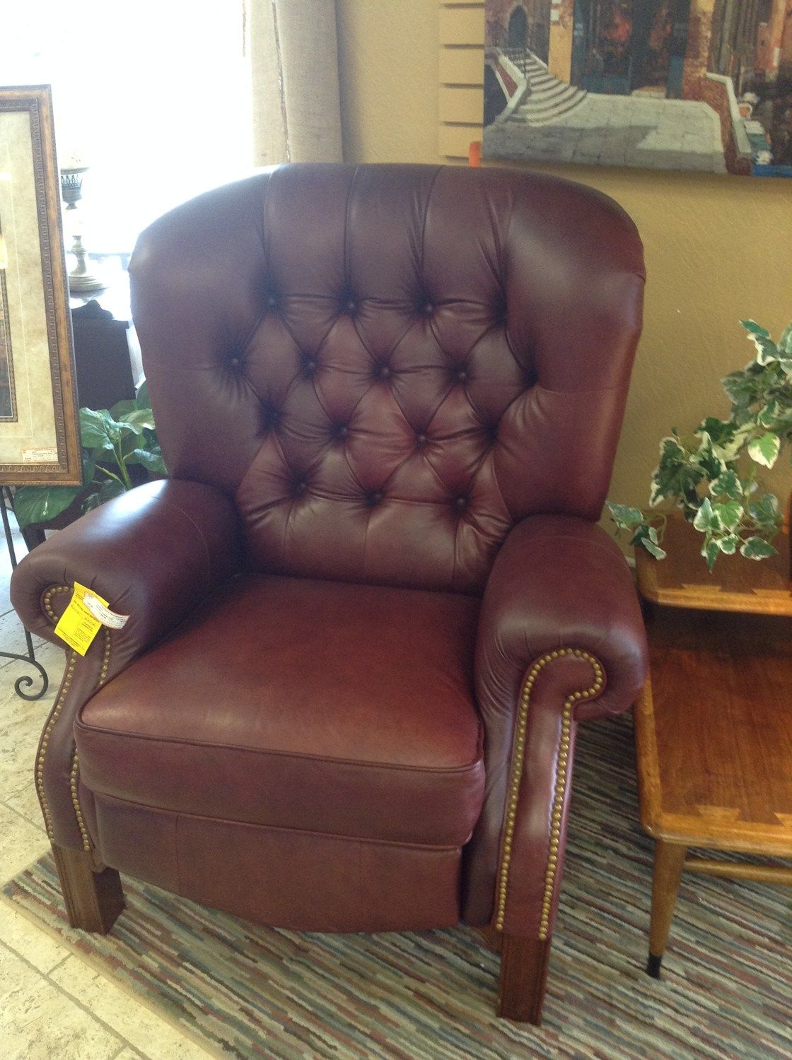LEATHER RECLINER - LazyBoy leather tufted back recliner 38 W 35 D : big and tall recliner lazy boy - islam-shia.org