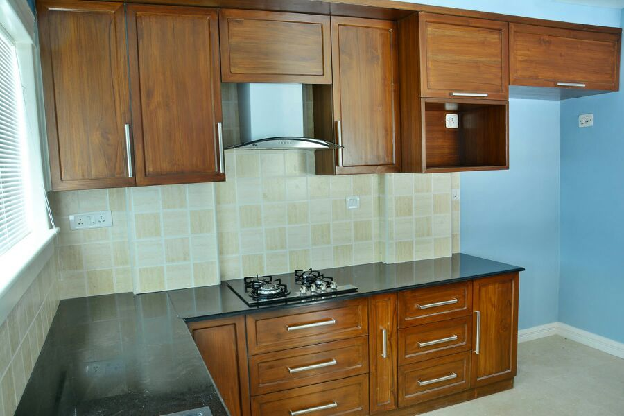 Furnished Kitchen Of 3bhk House Renovated Interior Design In Bangalore Kitchen Design Kitchen Kitchen Cabinets