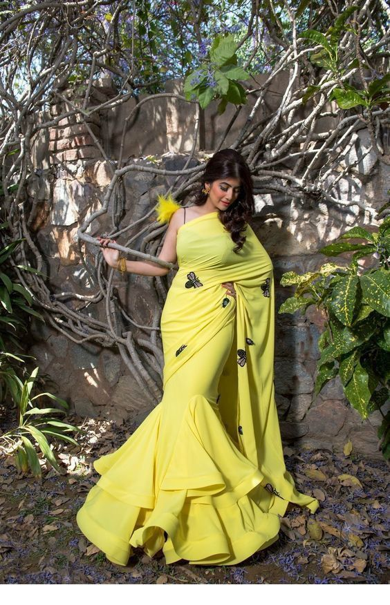 Photo of yellow saree for brides