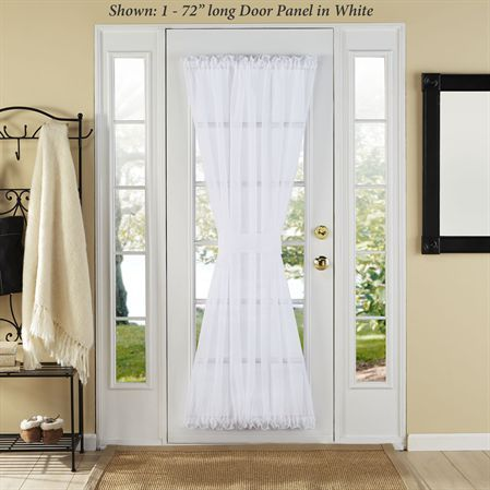 Elegance Sheer Voile Door Panel Small Window Curtains Small