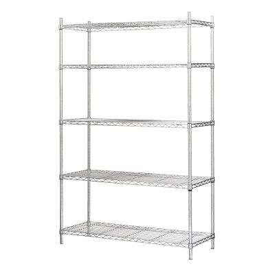 Wire 5 Shelf Wide Unit Chrome Williamssonoma Stuff For