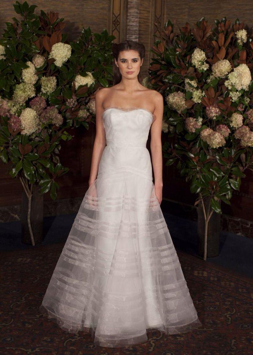 Austin Scarlett Savannah Bridal Gown - Silk satin organza column ...