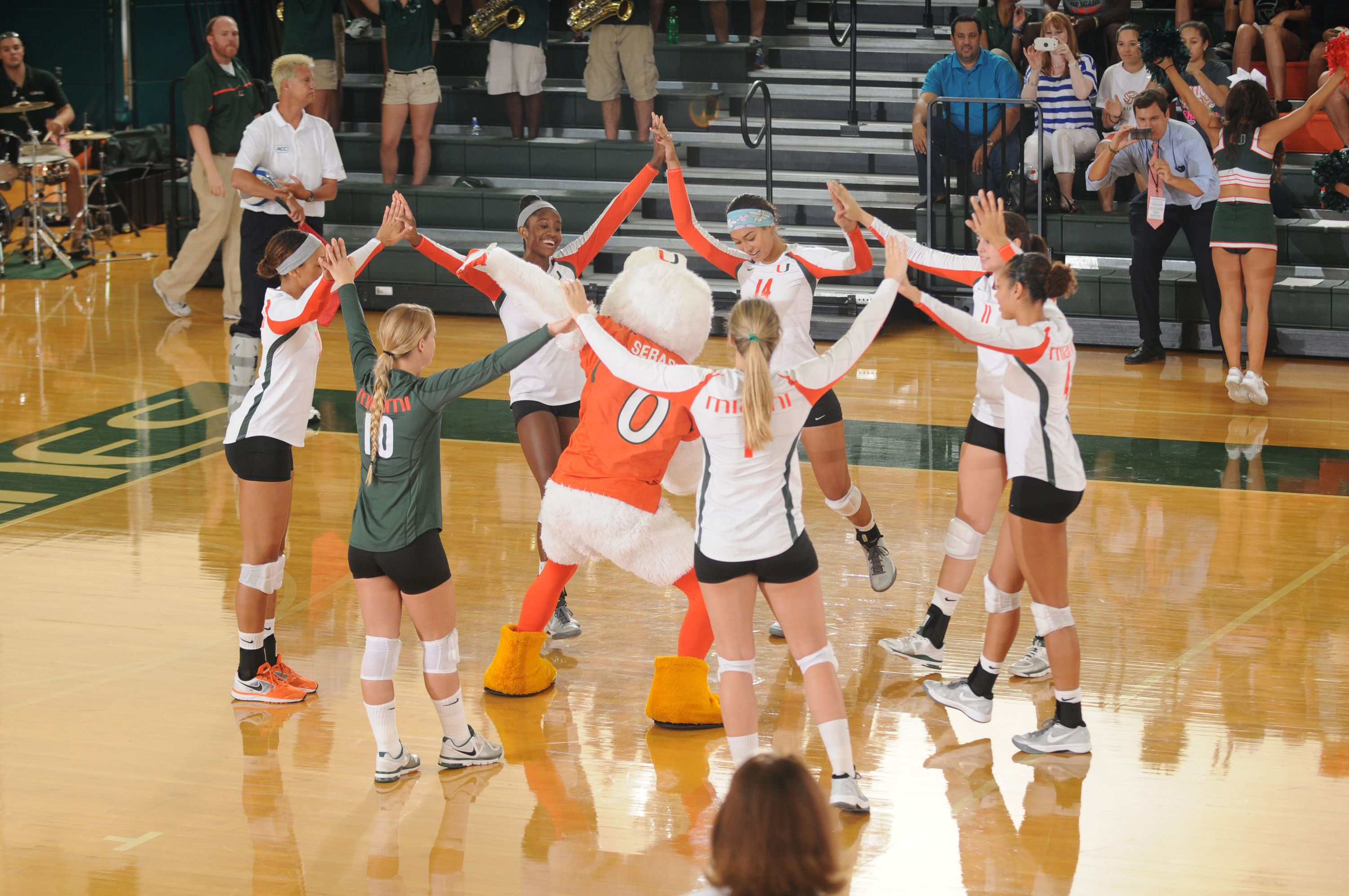 Sebastian At A Canes Volleyball Game With Images University Of Miami Hurricanes Volleyball Games University Of Miami