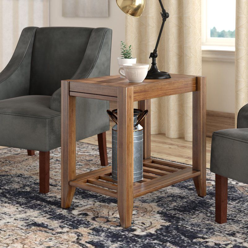 Athena solid wood end table with storage end tables with