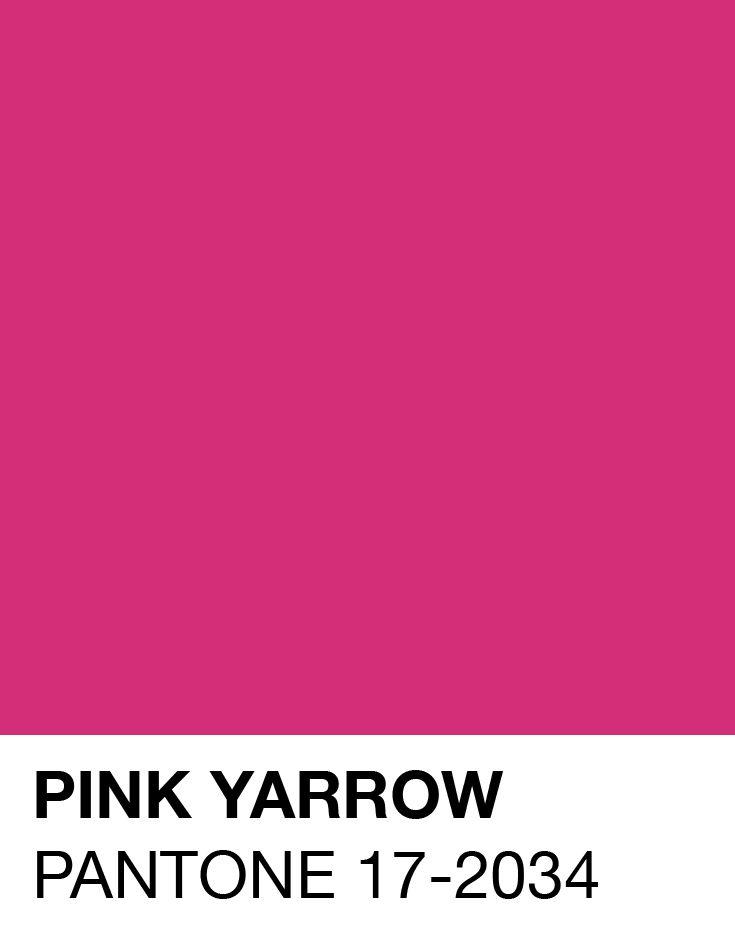 Pink Yarrow Pantone Spring/Summer S/S 2017 | Design in ...