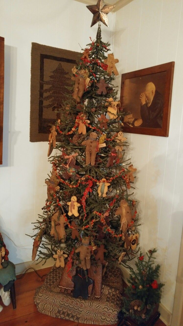 Primitive Gingerbread Tree Country Christmas Decorations Christmas Decorations Holiday Decor