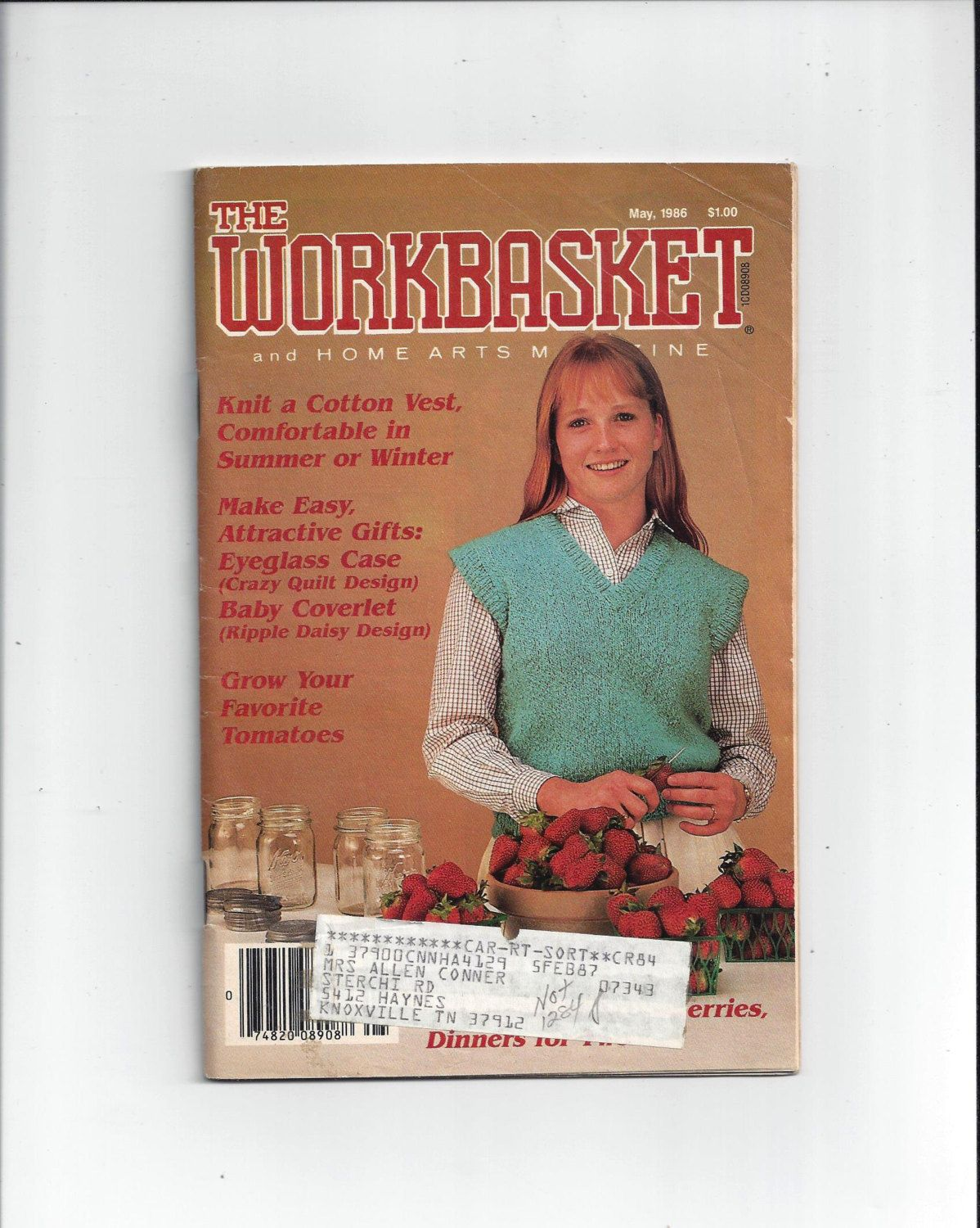 Workbasket home arts magazine may 1986 home knitting crochet workbasket home arts magazine may 1986 home knitting crochet sewing needle work book tatting recipes quilting vintage craft book bankloansurffo Choice Image