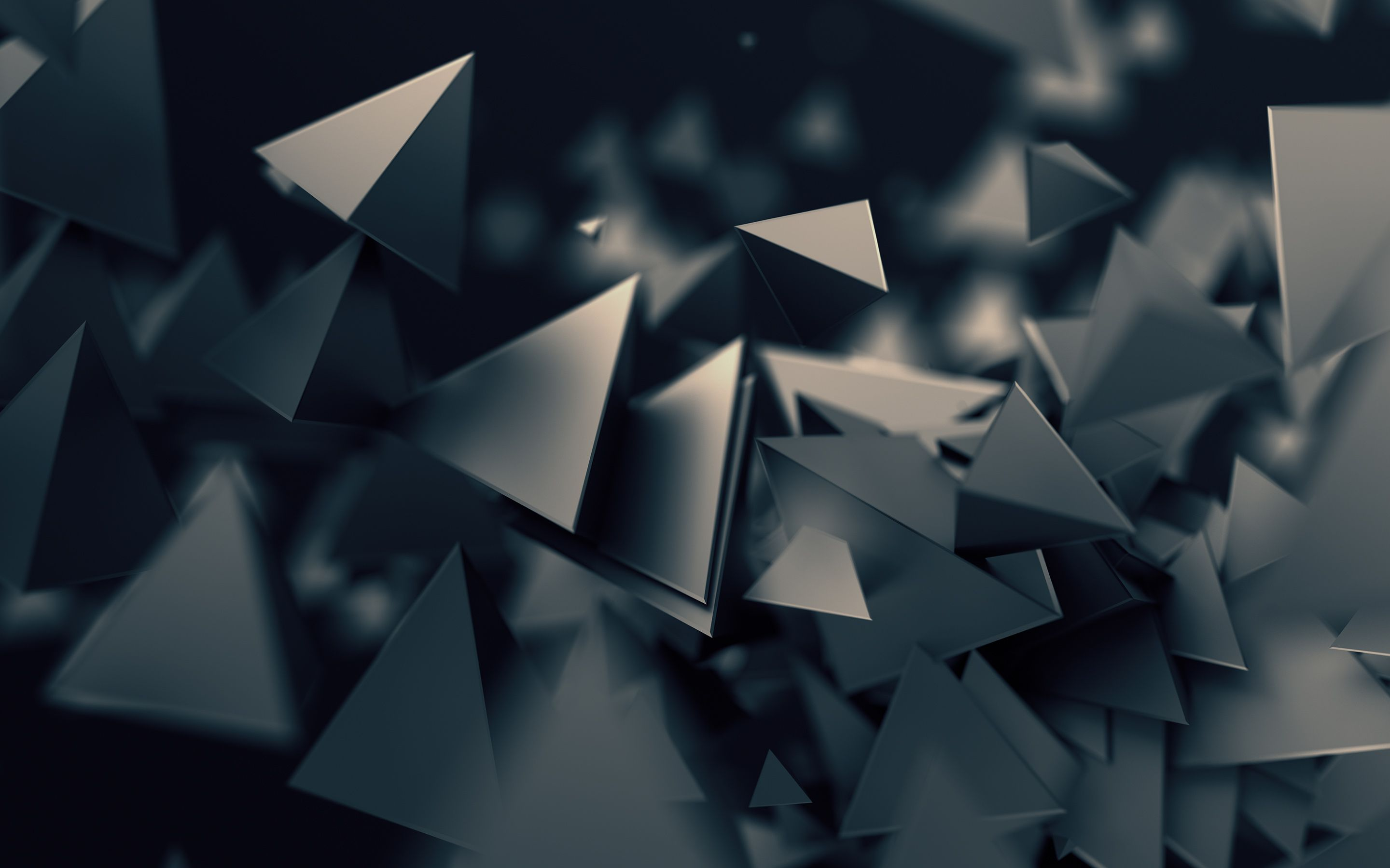 Triangles Low Poly Dark 3d Triangle Dark Wallpaper Abstract
