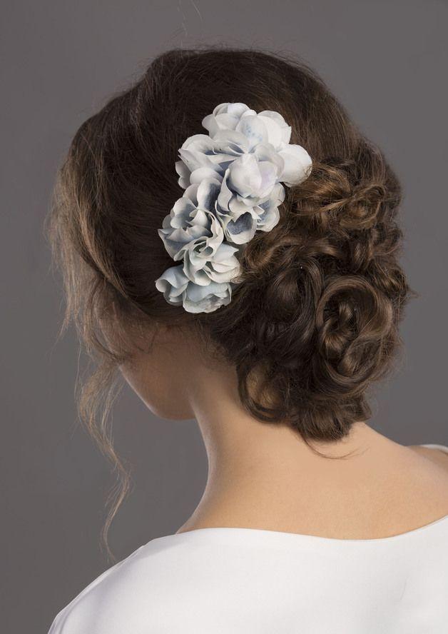 Jedwabne kwiaty do włosów - Kasia-Rodak - Akcesoria do włosów